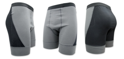 GlideWear Shear Protection Underwear, featuring a dual layer low friction zone